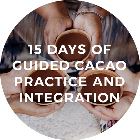 15 days of guided cacao practice and integration