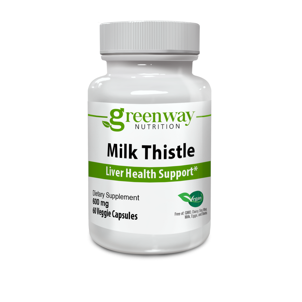 Milk Thistle Extract  600mg 60 Vegan Capsules