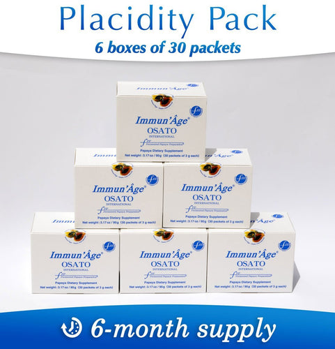 Defense Systems Booster Placidity Pack – 6-month Supply, 180 packets of 3g - Immun'Âge® Belgique