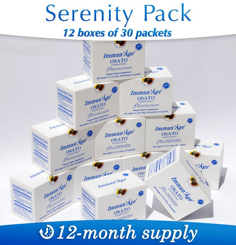 Defense Systems Booster Serenity Pack – 12-month Supply, 360 packets of 3g - Immun'Âge® Belgique