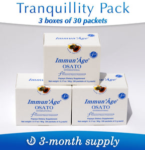 Defense Systems Booster Tranquillity Pack – 3-month Supply, 90 packets of 3g - Immun'Âge® Belgique