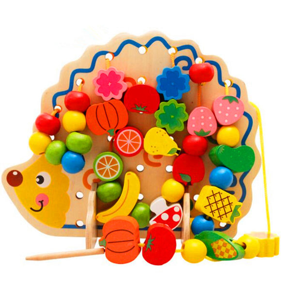Hedgehog Fruit Beads-Puzzle-HBB-Montessori toyz