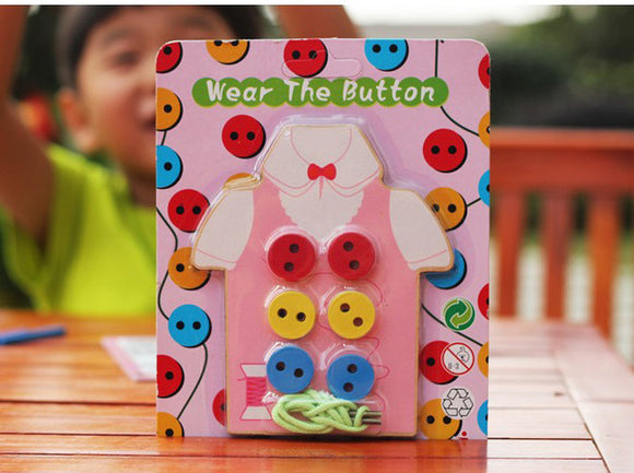 Button my Shirt!-Blocks-Montessori toyz-Pink-Montessori toyz