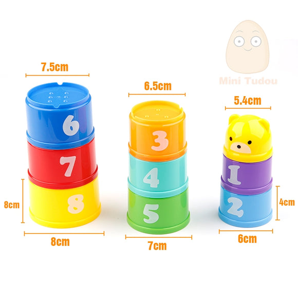 Stracker Cups-Shapes-Mini Tudou-Montessori toyz