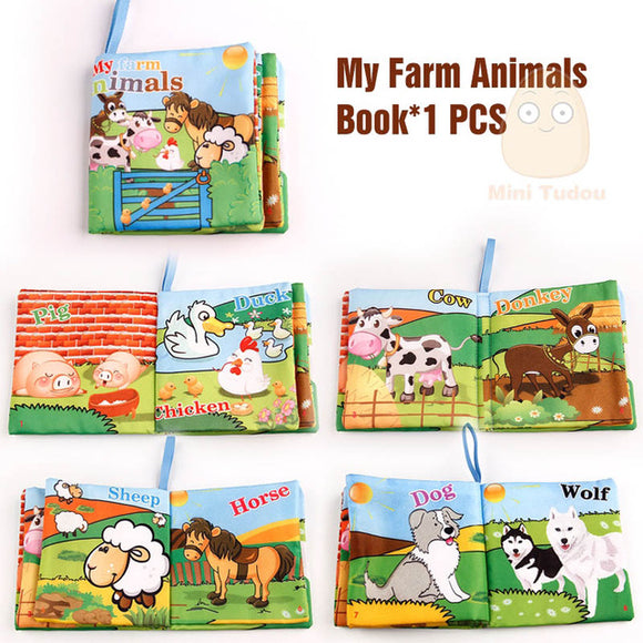 Books4Kids-Shapes-Mini Tudou-Farm Animals-Montessori toyz