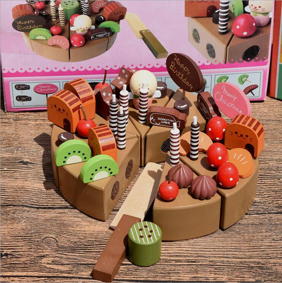 Wooden Cake-pretend play-let's make-Montessori toyz