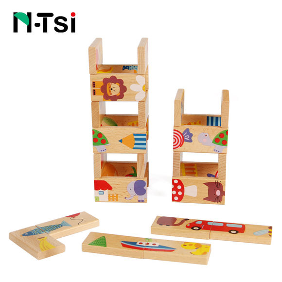 Wooden Domino-Brain Game-N-Tsi-Montessori toyz