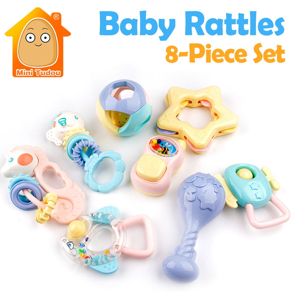 Rattle - N - Teether-Shapes-Mini Tudou-Montessori toyz