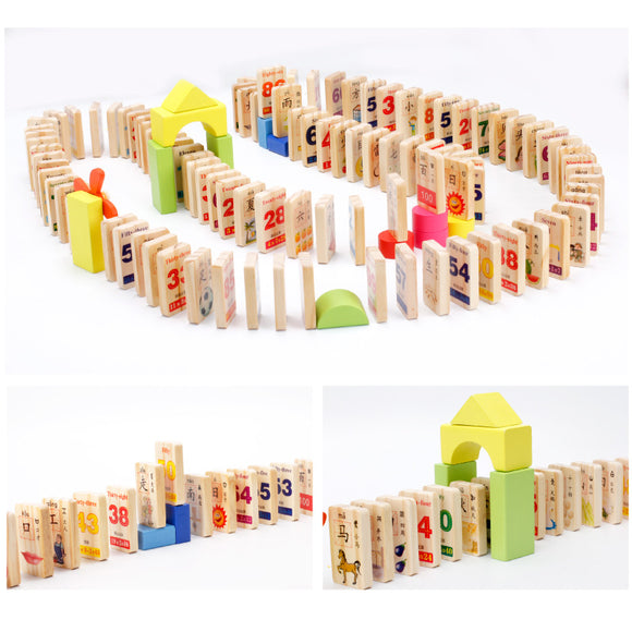 Domino World-Blocks-infant shining-Montessori toyz
