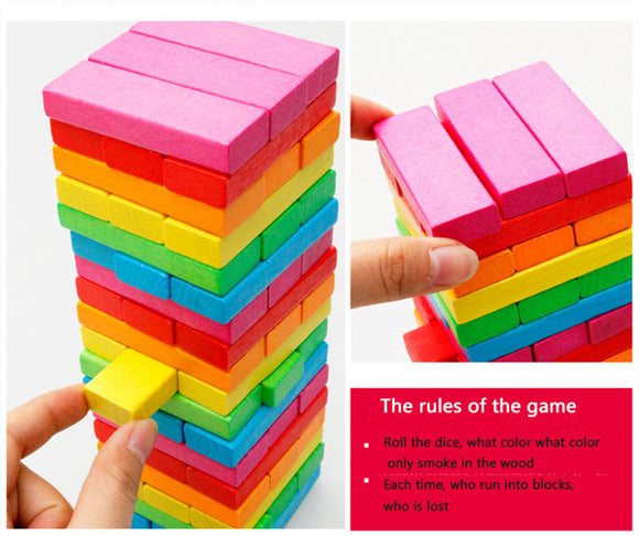 Wooden Stack-Brain Game-infant shining-Montessori toyz