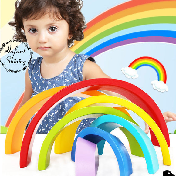 Rainbow Arc-Blocks-infant shining-Montessori toyz