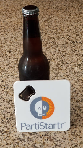 PartiStartr Hangover Prevention Logo Coaster and Bottle Opener
