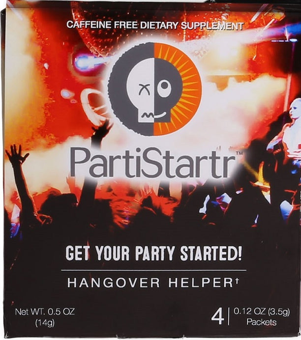 PartiStartr Hangover Prevention Supplement Powder 4-Serving Package