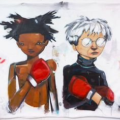 "Hebru Brantley - ""No More Public Battles, Just Private Wars"" Hand Finished Print"