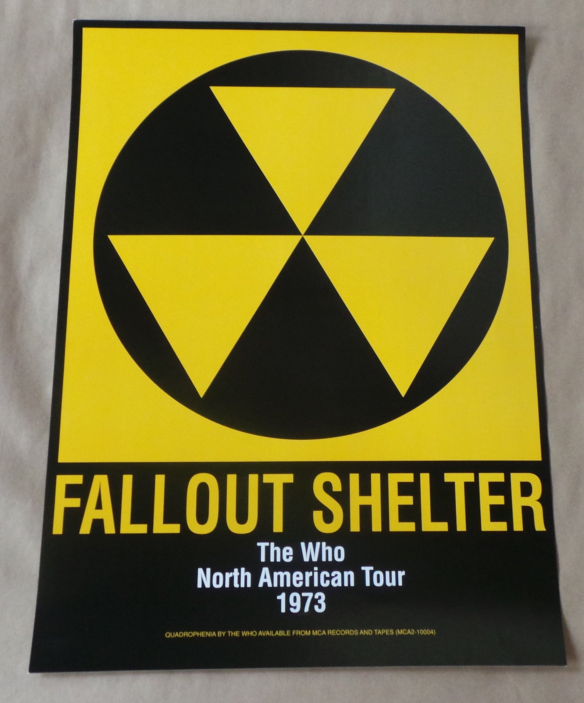 THE WHO Fallout Shelter US 1973 North American Tour Promo POSTER Quadrophenia