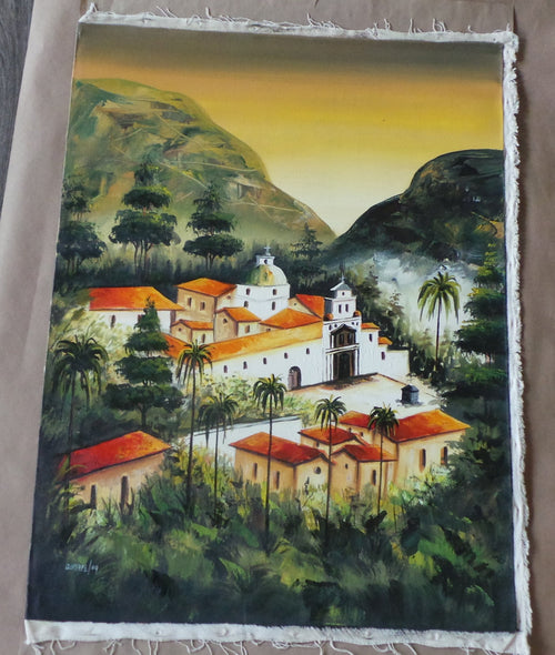 J Cosme Quishpe ORIGINAL OIL PAINTING ON CANVAS, S/D'd 2004
