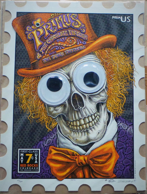 Primus - Red Rocks Concert Poster 2015 by EMEK S/N'd