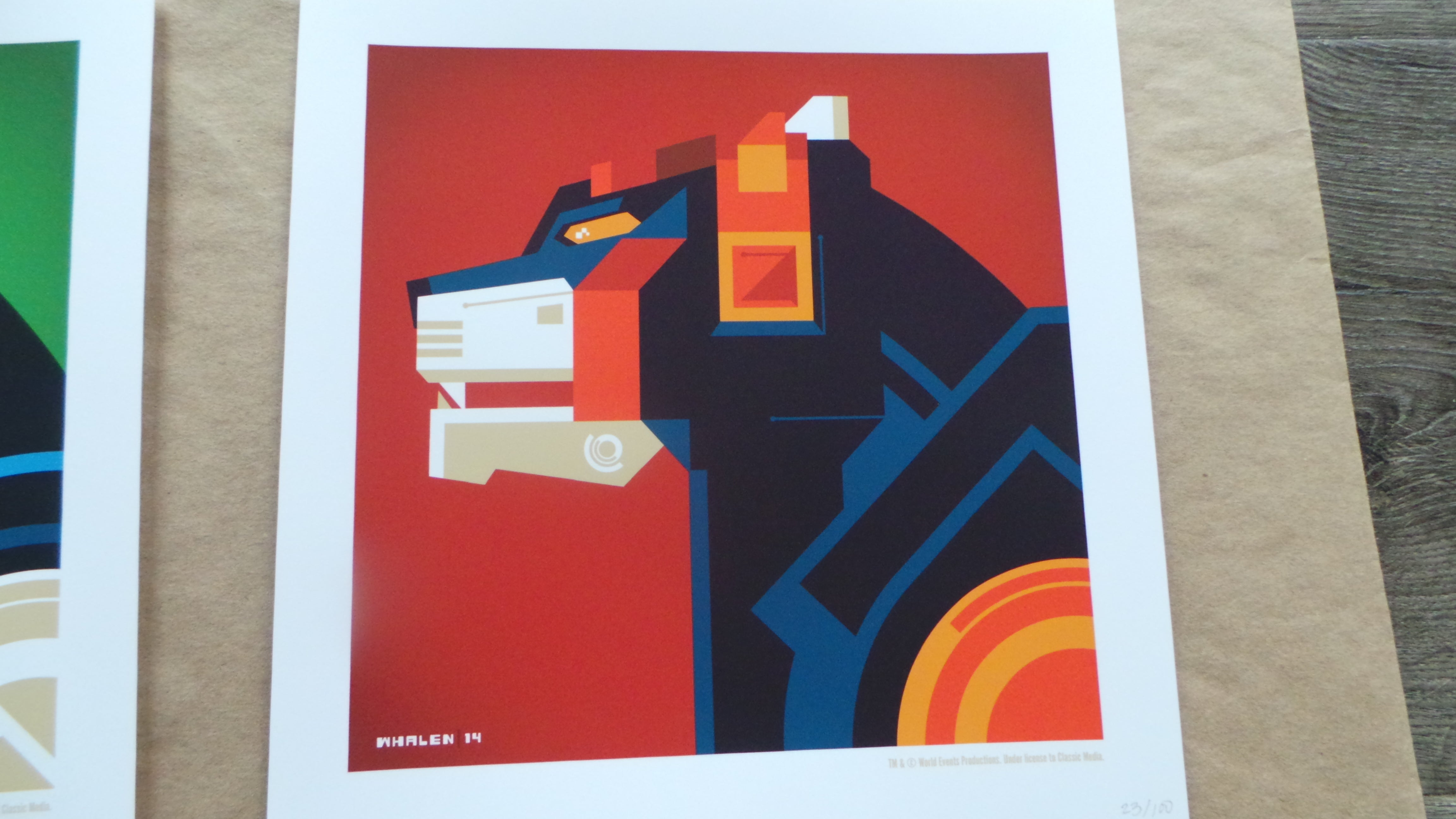 Full Set of 5 Voltron Lions and Holofoil Screenprint Poster Edition by Tom Whalen 2015 xx/100