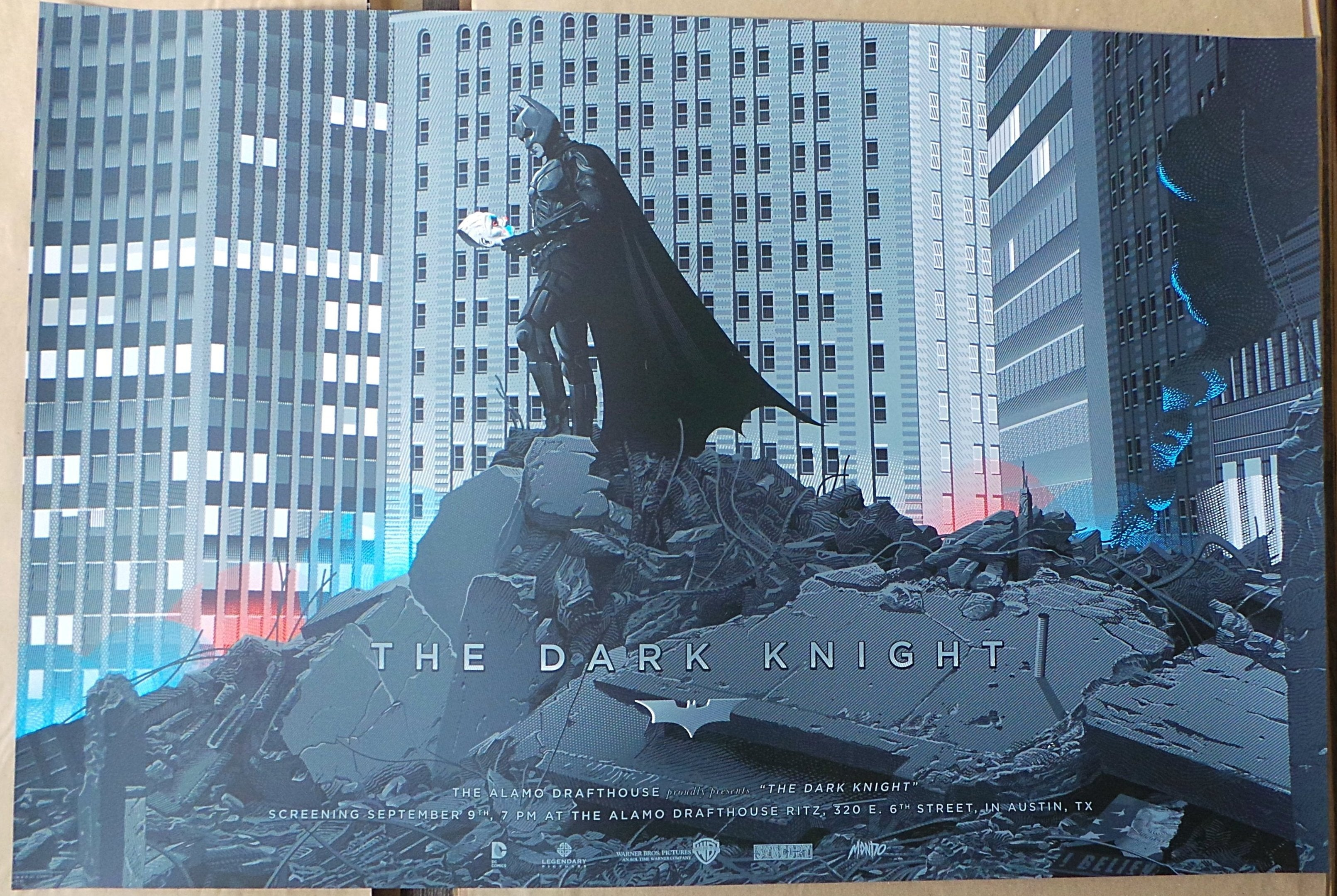 The Dark Knight (Variant) Screenprint Poster xx/225 N'd Mondo Batman Durieux