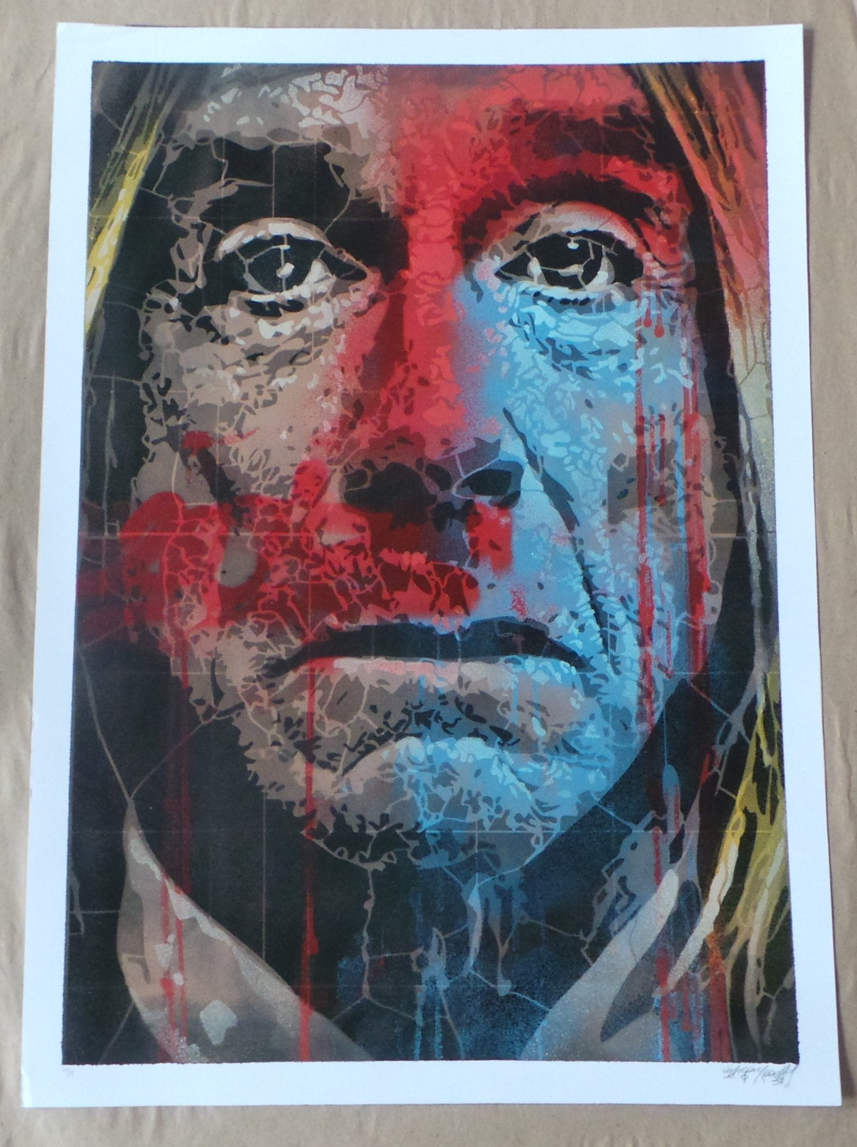 Iggy Pop Orticanoodles Screenprint Poster Limited Edition xx/15 Signed/Numbered