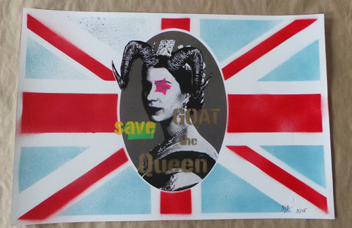 GOAT SAVE THE QUEEN REGULAR by NOA prints 2015 S/N'd xx/15