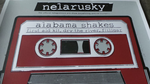 Alabama Shakes Metro Chicago, IL Lolla Nelarusky Screenprinted Poster 2012