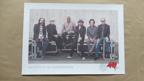 TOM PETTY - 2016 FAN CLUB POSTER HEARTBREAKERS 40TH ANNIVERSARY