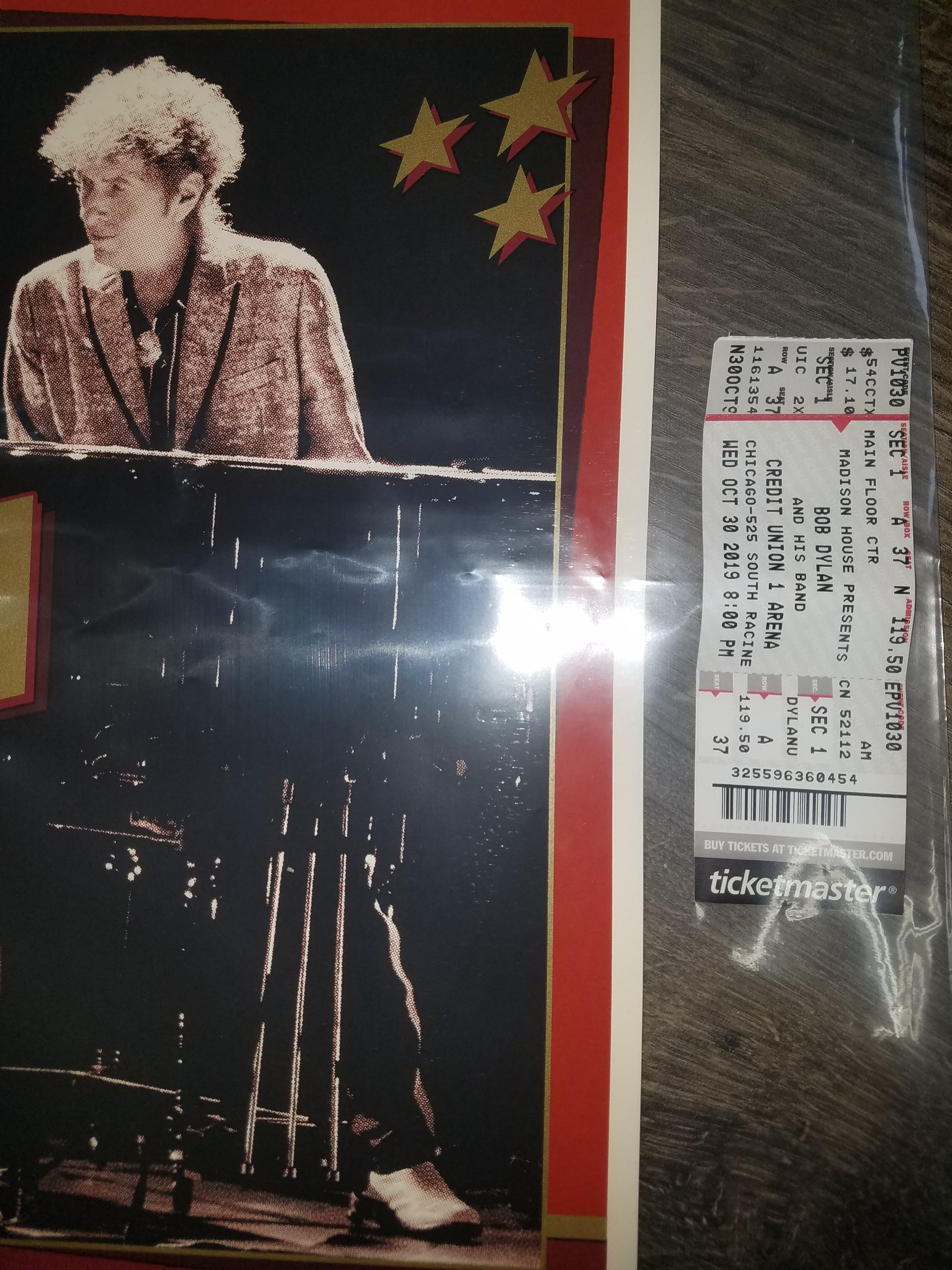 Bob Dylan UIC Chicago Credit Union 1 Arena S/N xxx/250 Rare Sold Out Screenprint Poster