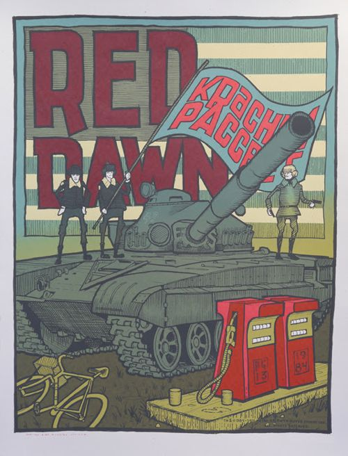 Red Dawn Jay Ryan Mondo xx/260 Signed/Numbered Screen Print Poster