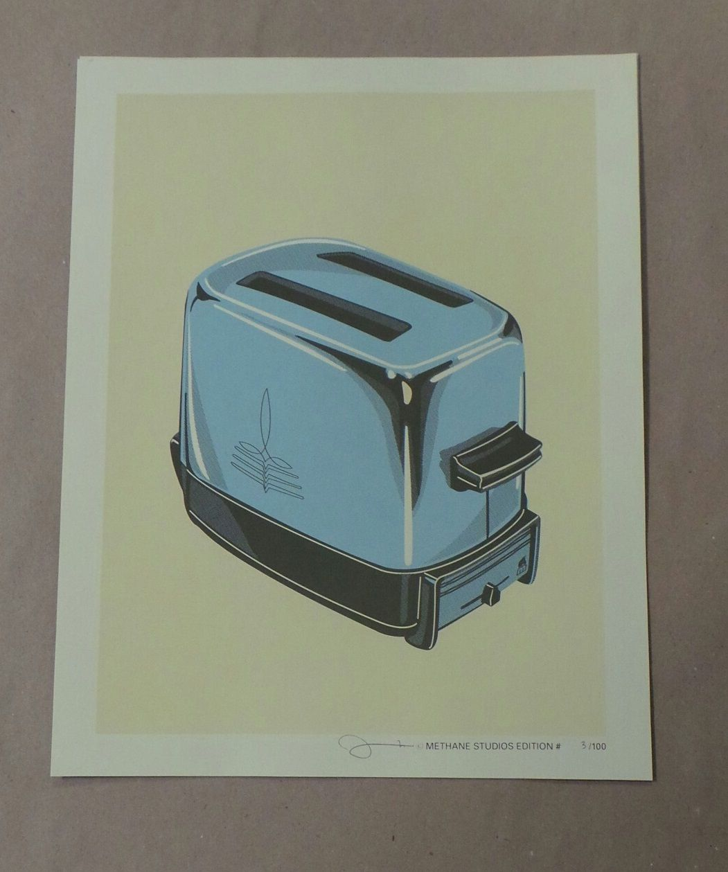 Toaster Limited Screenprint Poster Mark McDevitt Signed/Numbered xx/100