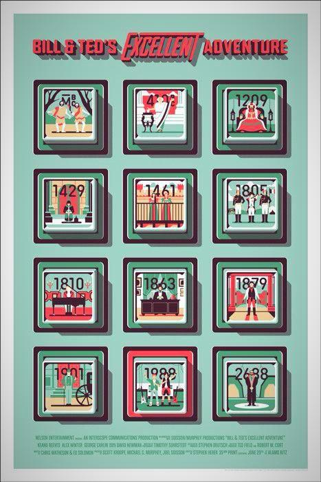 Bill & Ted's Excellent Adventure Screenprint Poster xx/225 MONDO Sold Out