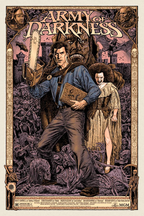 Army of Darkness Purple Variant Screenprint Poster xx/60 Chris Weston Skuzzles