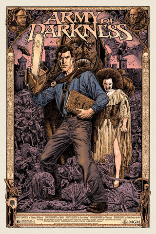 Army of Darkness Gold Variant Screenprint Poster Jeff Boyes xx/50 Skuzzles