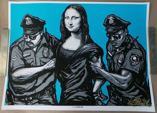 Arrested (Special AP edition) Screenprint Poster by Munk One 2013 S/N'd xx/25