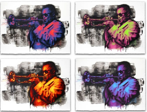 Miles Davis Screenprint Poster Mr. Brainwash 4-Poster Set xx/50 S/N'd