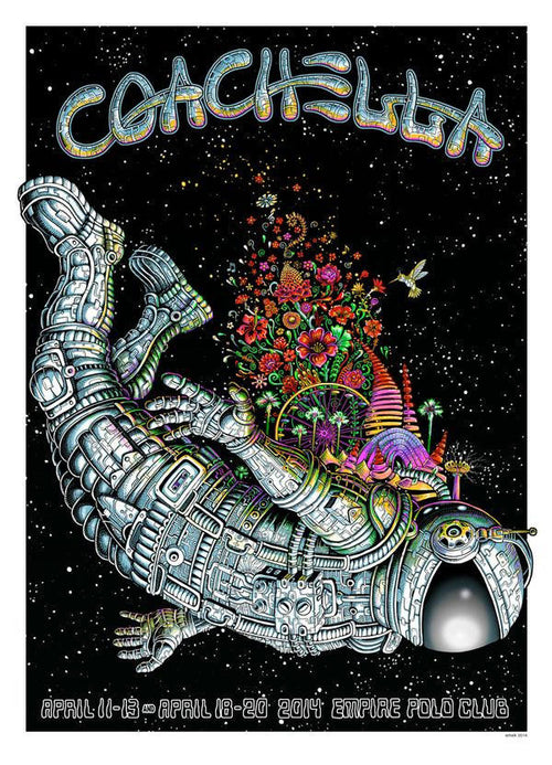 Emek Coachella 2014- Glow in the dark! Screenprint poster xx/100 S/N'd