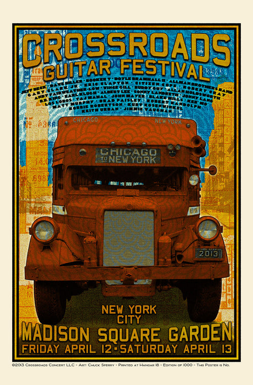 Crossroads Guitar Festival 2013 Poster by Chuck Sperry S/N'd xx/1000