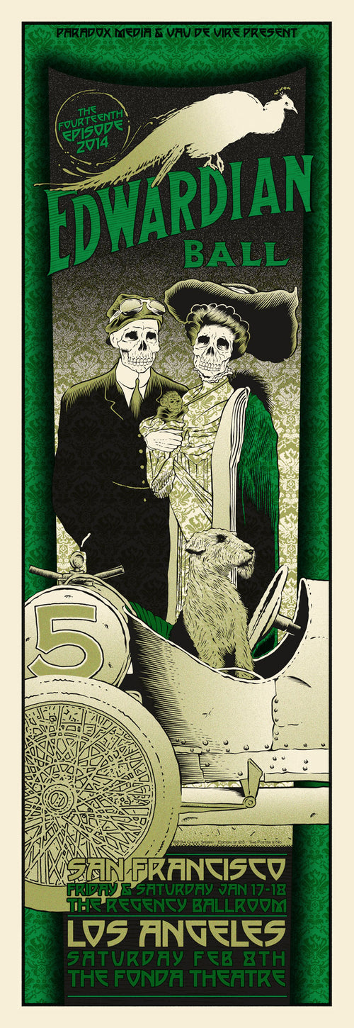 EDWARDIAN BALL - 2014 CHUCK SPERRY POSTER LOS ANGELES, CA SAN FRANCISCO S/N'd