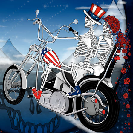 Fare Thee Well Poster: Chopper Skyline Lithograph by Taylor Swope 2015
