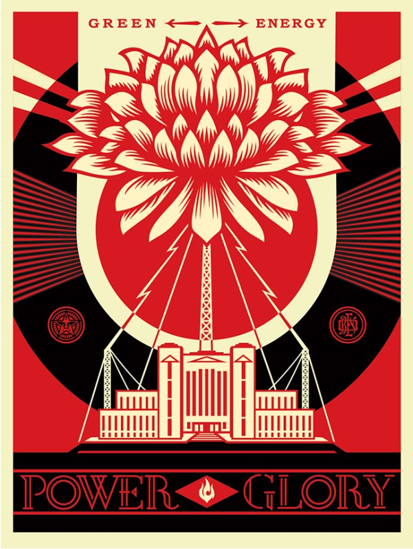Shepard Fairey Green Power Print Poster Pawn Stars 2014 S/N'd