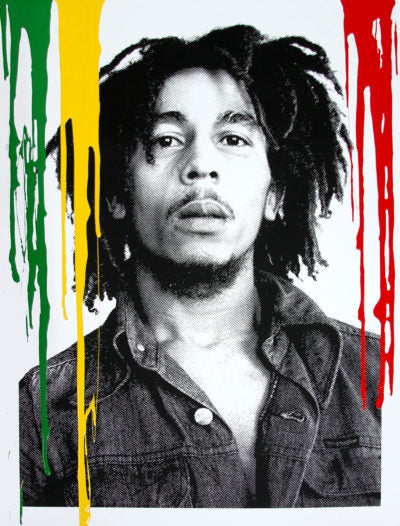 Mr. Brainwash Happy Birthday Bob Marley Buffalo Soldier Multi color Screenprint