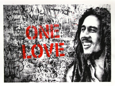 Mr. Brainwash Happy Birthday Bob Marley One Love Screenprint SET OF 5 xx/74 S/n