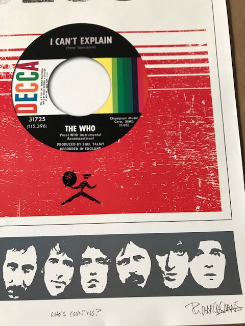 The Who Official Fan Club Limited Edition Lithograph 50th Anniversary Tour S'd,