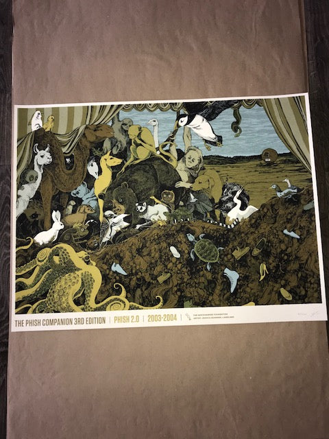 "Jessica Seamans, Landland ""TPC3 – Phish 2.0, 2003-2004"" Screenprinted Poster S/N'd"