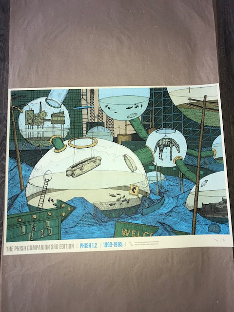 "Dan Black, Landland ""TPC3 - Phish 1.2, 1993-1995"" Screenprinted Poster S/N'd"