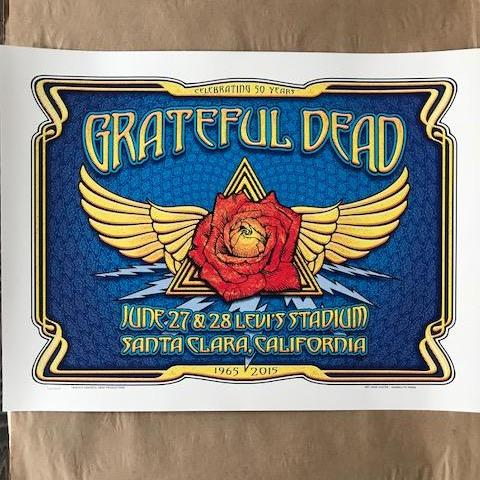 FARE THEE WELL - 2015 DAVE HUNTER POSTER GRATEFUL DEAD SANTA CLARA 76/1000