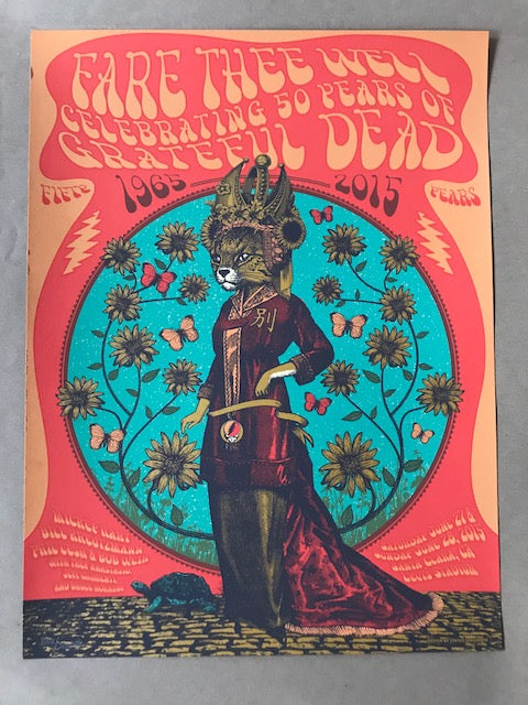 Grateful Dead China Cat Poster by Justin Helton 2015 Fare Thee Well S/N'd xx/201