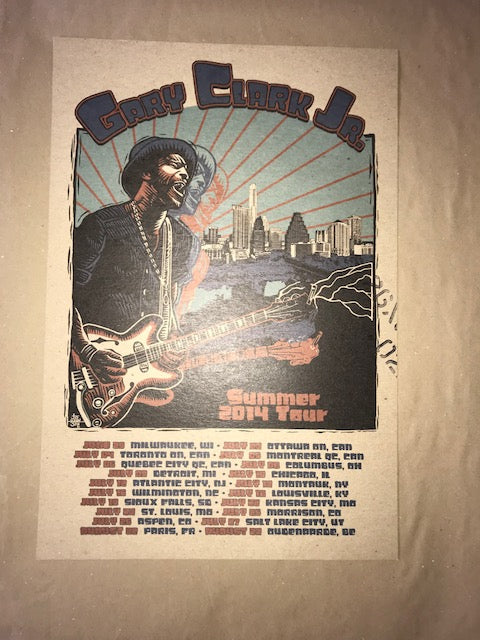 Gary Clark Jr. Summer Tour 14 - 1st Unsigned, not N'd