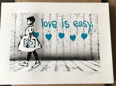Rene Gagnon - Love is Easy Silkscreen Art Print 2012 S/N'd xx/10