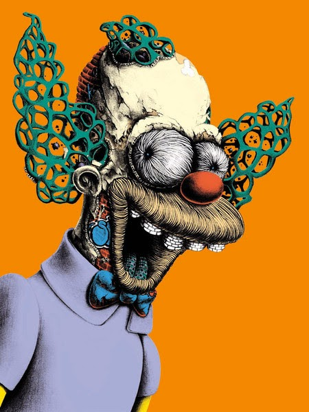PEZ Skrutchy Screenprint Orange Edition S/N'd xx/30 The Simpsons Krusty